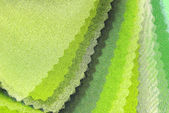 Lime green organza color selection — Stock Photo