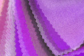 Purple pink organza color selection — Stock fotografie