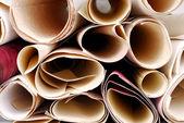 Close up of the wallpaper rolls texture — Foto de Stock