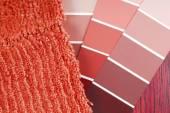 Escolha de pintura e carpete de cor para interior — Fotografia Stock