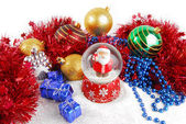 Christmas decorate composition with glitter — Foto Stock