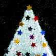 Christmas tree decorate from glitter on black background — Φωτογραφία Αρχείου #57314273