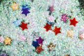 Stars with glitter  on black — Stock fotografie