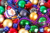 Christmas bauble background — Stock Photo