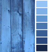 Wooden plank blue color selection — Stock Photo