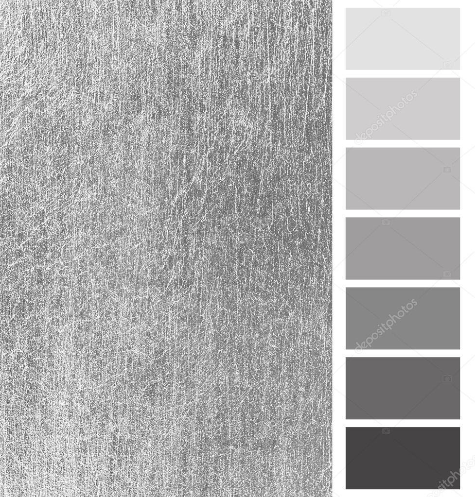 Silver Color Metal Jali Pattern : Silver scratched metal color complimentary palette — stock
