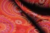 Texture de tissu pli en soie naturelle — Photo