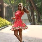 Beautiful woman model doing a fashion shoot — Stock Photo #57229297