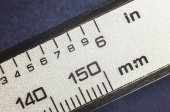 Millimeters and Inches  — Stock Photo