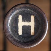 Letter H — Foto de Stock