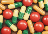 Pills and Tablets Macro — Stock Photo