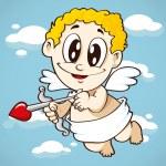 Flying cupid, valentine symbol — Stock Vector #59807309