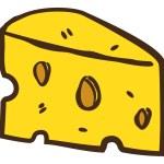 Cartoon cheese doodle — Stock Vector #59806939