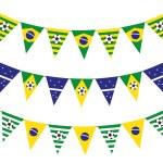 Brazil flag garland — Stock Vector #59807151