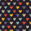 Colorful sketchy love pattern — Stock Vector #59807501
