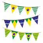 Brazil flag garland — Stock Vector #59807887