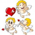 Nice cupids set — Stock Vector #59807931