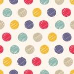 Polka dots doodle seamless — Stock Vector #59808203