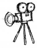 Projecteur fragmentaire en style doodle — Vecteur