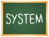"""system"" word written on chalkboard — Stock Vector"