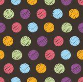 Polka dots doodle seamless — Stock Vector
