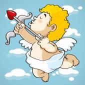 Cupido de feliz de dibujos animados — Vector de stock