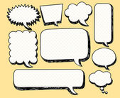 Sketchy speech bubbles — Stock Vector