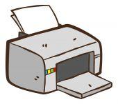 Cartoon printer cartoon — Stock Vector