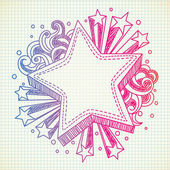 Star doodle — Stock Vector