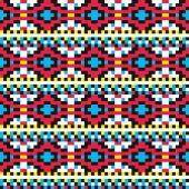 Reticolo tribale del pixel — Vettoriale Stock