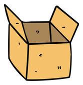 Open box doodle — Stock Vector