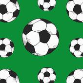 Soccer balls seamless pattern — Stock Vector