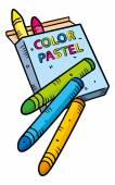 Color pastel — ストックベクタ