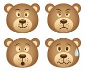 Teddy bears heads — Stock Vector