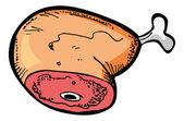 Cartoon raw meat — Stock Vector