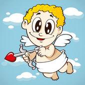 Летающие Амура, символ Валентина — Cтоковый вектор