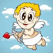 Flying cupid, valentine symbol — Stock Vector