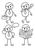 Doodle worker — Stock Vector