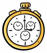 Retro pocket watch — Stock Vector