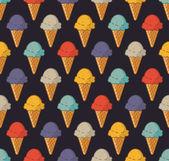 Vintage ice cream pattern — Stock Vector