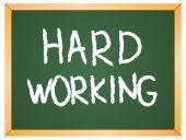 Hard working word — Stock Vector