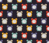 Vintage clock pattern — Stock Vector