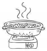 Shabu shabu dish — Stock Vector