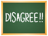 Disagree word  on chalkboard — Stock Vector