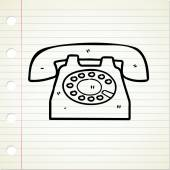 Retro vintage telephone — Stock Vector