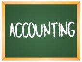 Accounting word on chalkboard — Stock Vector