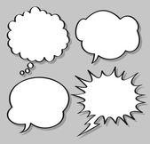 Comical speech bubbles — Stock Vector