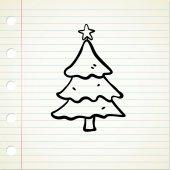 Cartoon Christmas tree — Stockvektor