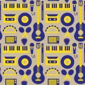 Music instruments pattern — Stock Vector