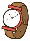Cartoon wrist watch — Stock Vector